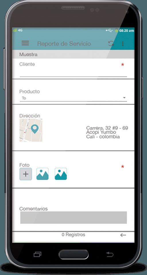 Formulario digital en app Colector