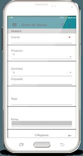 app formulario orden de ventas